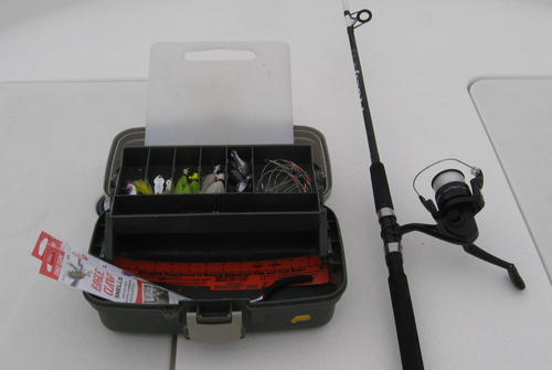 Fishing rod and tackle for Fishing equipment rental