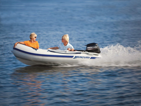 Our smallest Carolina Skiff Rental Boat is 14' with a 5HP Honda
